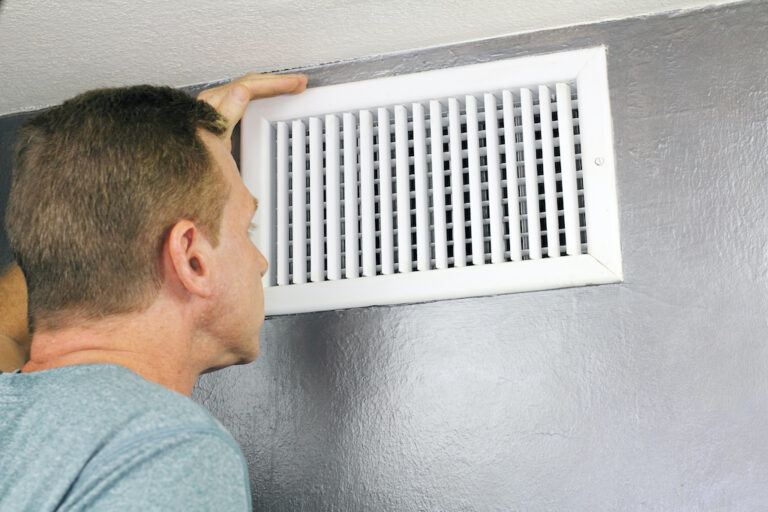 Inspecting a Home Air Vent